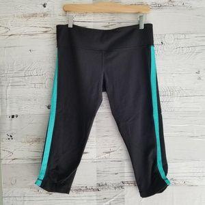 Lululemon black cropped leggings in size 10